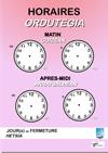 """affiche """"horaires d'ouverture et fermeture"""" en bilingue"""