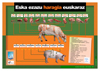 """affiche """"la viande : appellation des morceaux"""" pour apprendre l'euskara"""