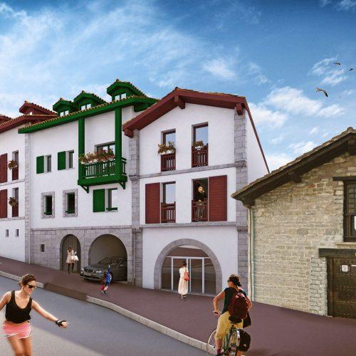 Projet virtuel des logements du COL rue du Port