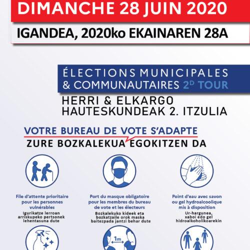 Elections municipales 28 Juin 2020